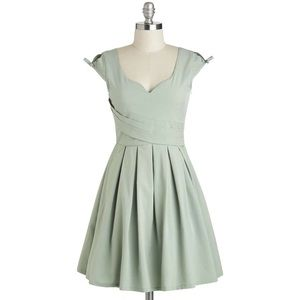 ModCloth Nominee of the Night Dress In Sage